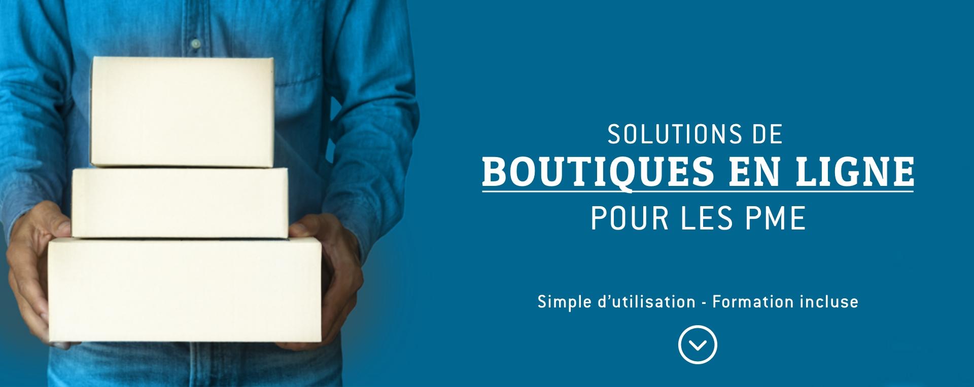Solutions de boutiques en ligne